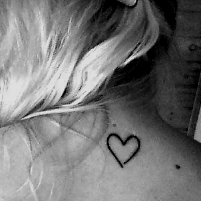 Simple heart tattoo<3