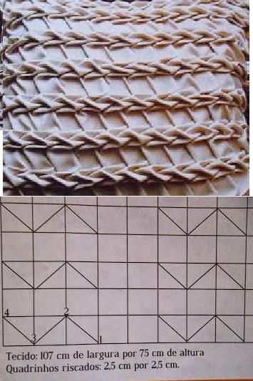 Canadian smocking example and chart for stitching.  No further instruction.