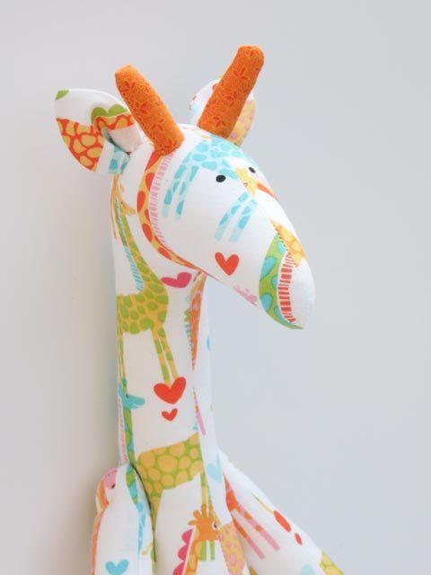 Stuffed giraffe plush softie cute giraffe toy by HappyDollsByLesya