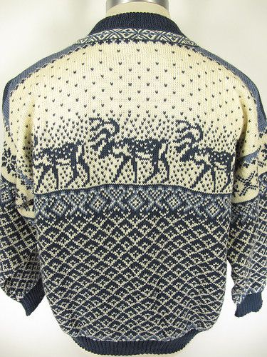 Nordstrikk Norway Scandinavian Wool Reindeer Pewter Button Cardigan Sweater M | eBay