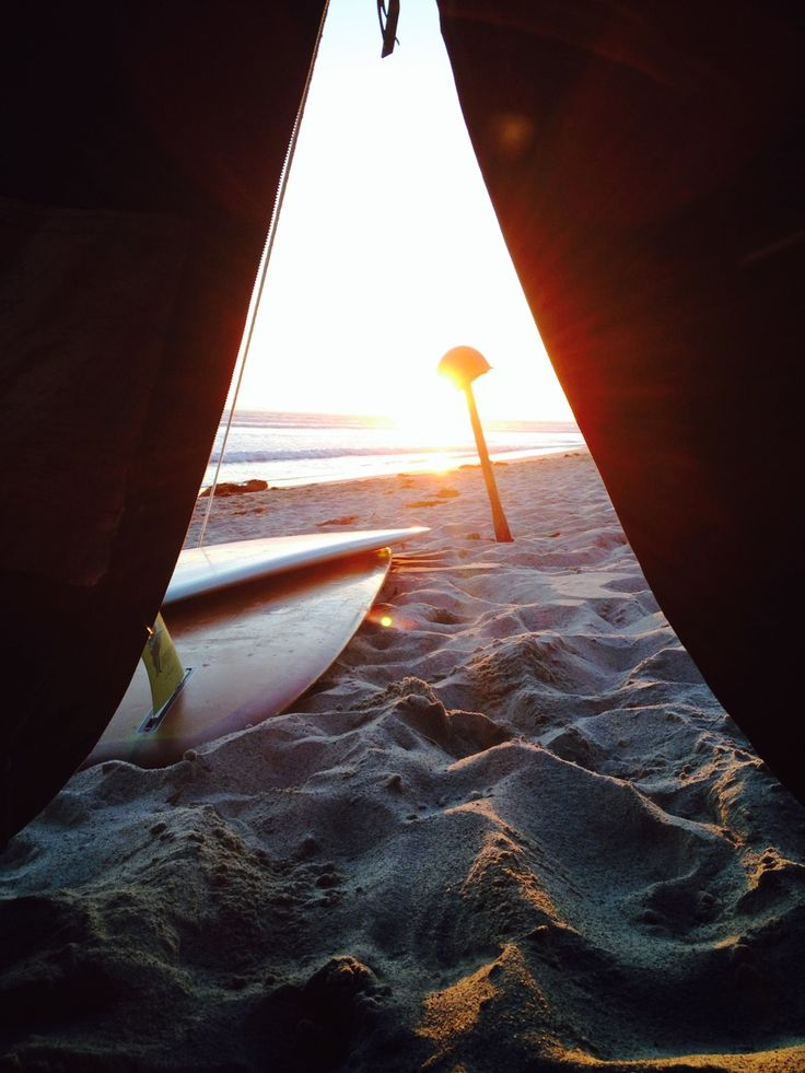 camping on the beach . enjoy the summer