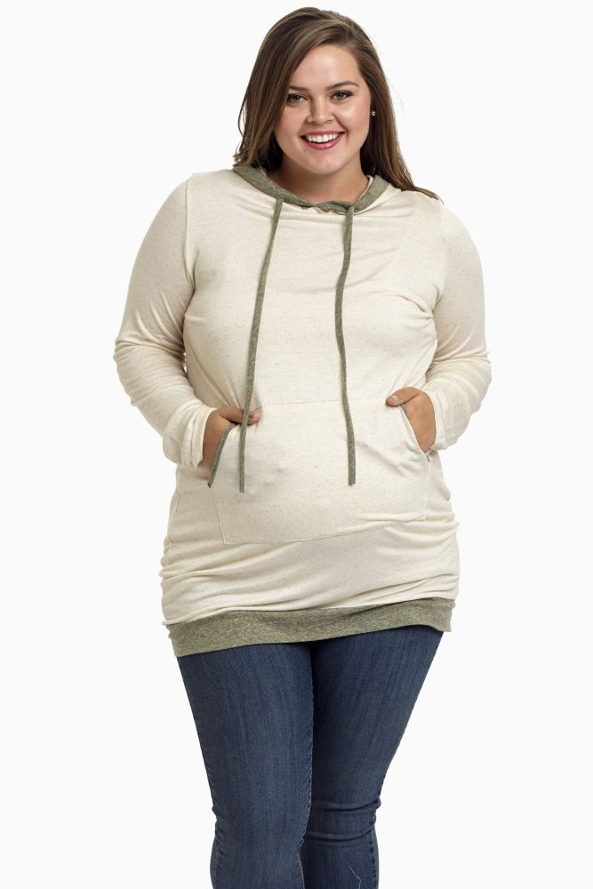 A favorite fall basic, this hooded maternity tunic is seasonally hued with a stylish, flattering cut to give you a comfortable look all day everyday. We're loving its sporty chic look with a maternity legging.
