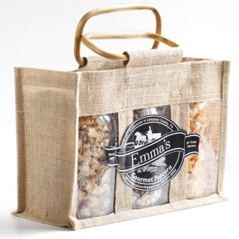Popcorn Products :: Gift Packages :: Mason Jar Gift Bag - Emma's Gourmet Popcorn…