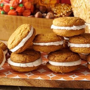 Pumpkin Whoopie Pies Recipe from Taste of Home -- shared by Deb Stuber of Carlisle, Pennsylvania