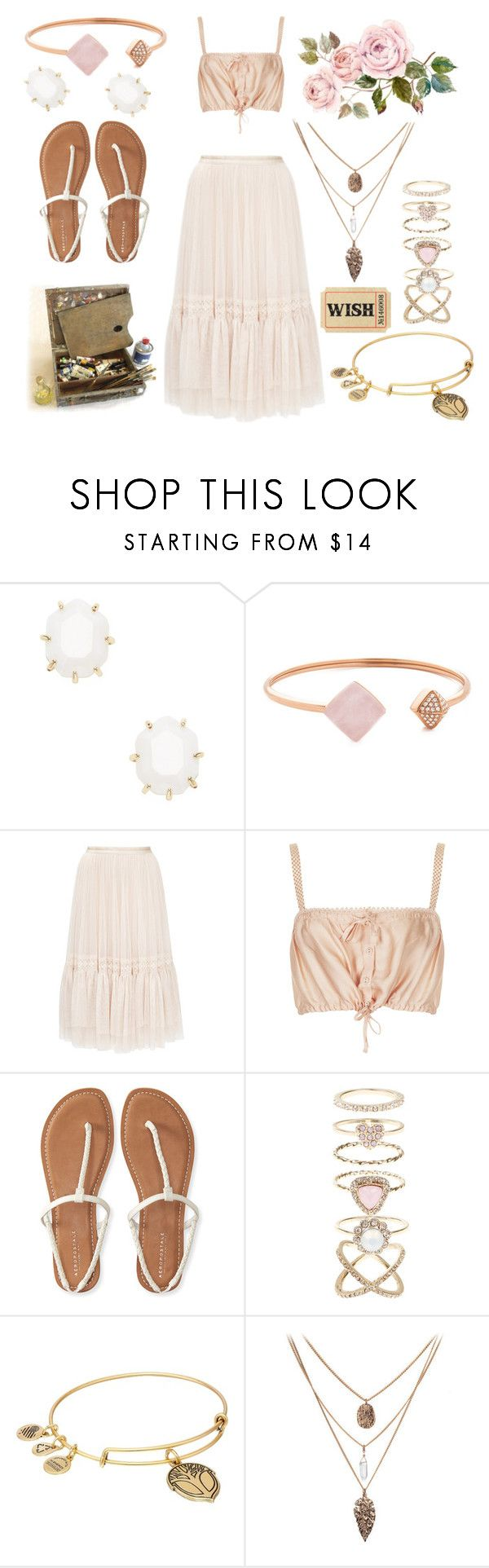 """""""Brida J"""" by challicewell ❤ liked on Polyvore featuring Kendra Scott, Michael Kors, Needle & Thread, Topshop, Aéropostale, Accessorize and Alex and Ani"""
