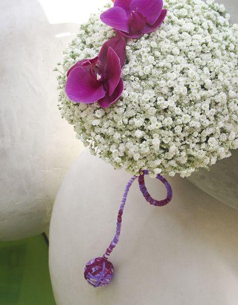 ::Structural νυφικό μπουκέτο γυψοφύλλη - Phalaenopsis