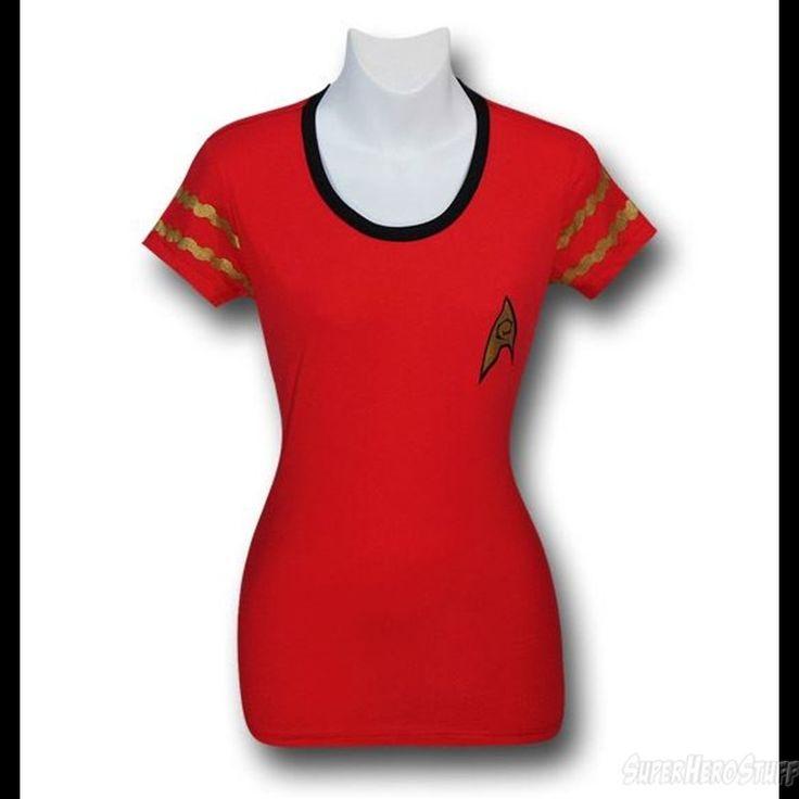 Star Trek Jrs Security Uniform Ringer T-Shirt