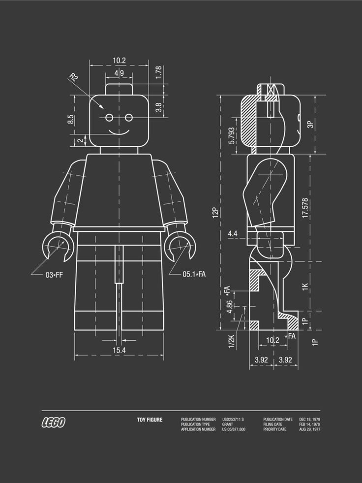 Lego patent - Home made vector by Rodolphe HERAUD