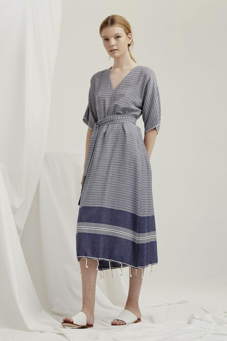 Kyoto Dress - Turkish Weave Navy