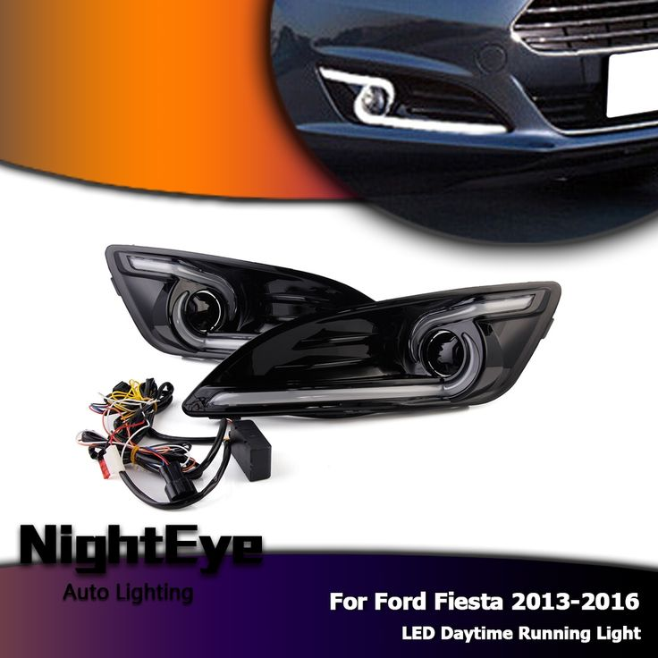57.84$  Watch now - http://alizoz.shopchina.info/go.php?t=32808008676 - Auto LED DRL Car Daytime Running Light & Yellow Turn Signal Day Light For Ford Fiesta 2013-2016 57.84$ #buymethat
