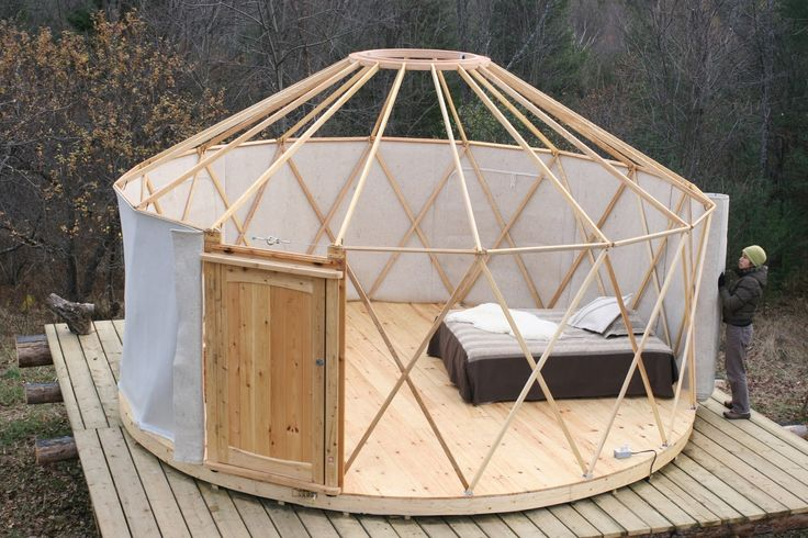 An adorable 133 sq ft yurt from Canadian company, …