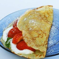 French Crepe Recipe! Maybe skip on the rum though...