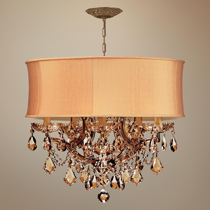 Brentwood Collection Harvest Gold 6-Light Crystal Chandelier | LampsPlus.com