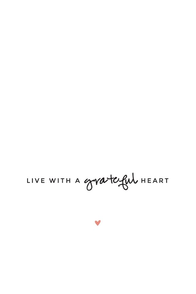 Minimal black white Live Grateful Heart iphone phone background wallpaper lock screen