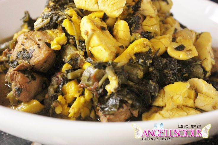 Ackee with Callaloo and Chicken Breast