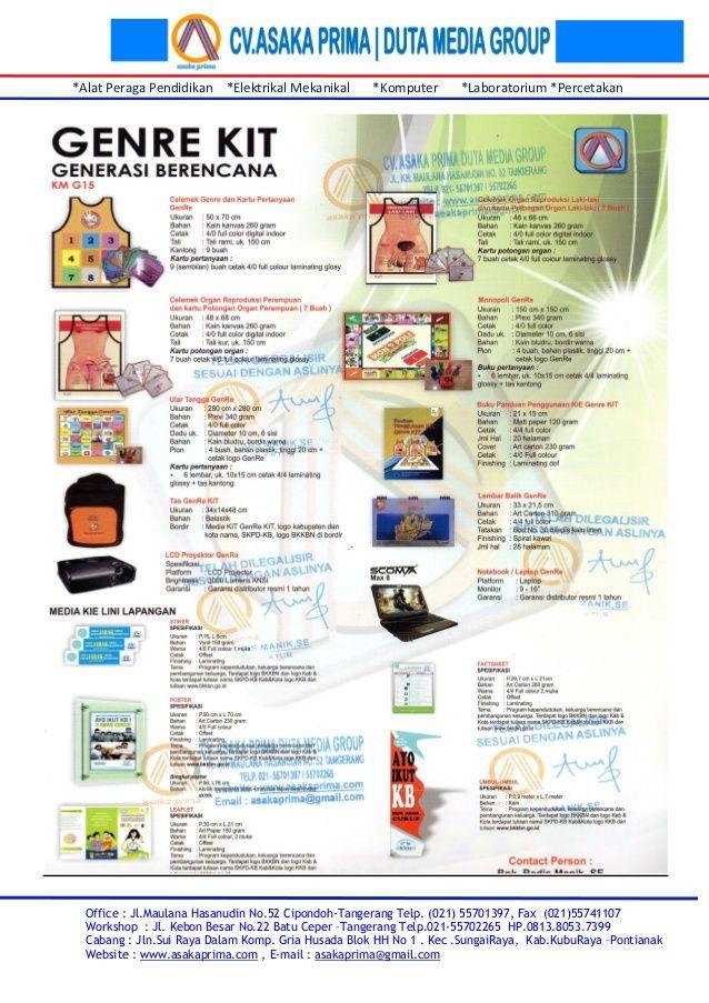 Rincian genre kit & brosur generasi berencana kit 2015