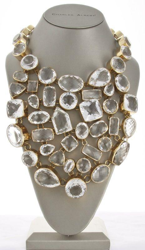 Charles Albert clear quartz Necklaces
