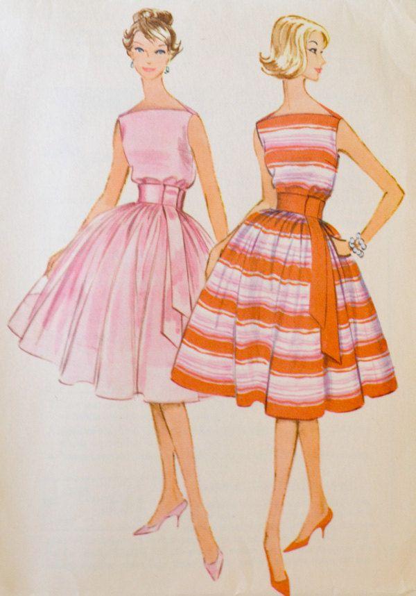 1960 vintage pattern party dress bridesmaids 5313. $16.00, via Etsy.