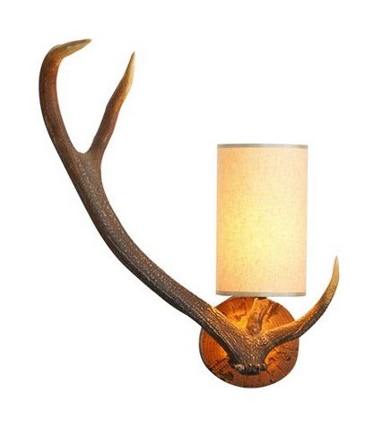 Antler Wall Light Left Handed - £165.00 - Hicks and Hicks