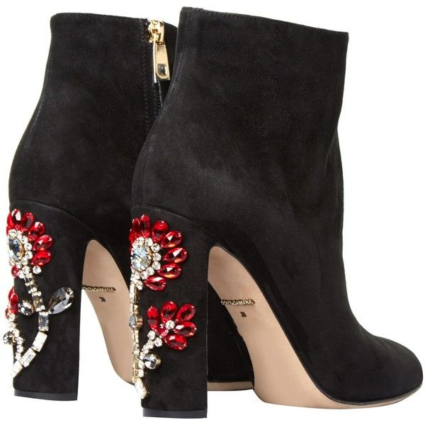 Shoes Black Mesh Side With Flowers Heeled