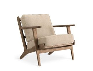 Scandinavian style chair, the Karla in soft stone canvas