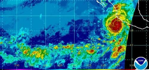 The National Hurricane Center said Dora became the first hurricane of the 2017 season when it formed Monday, though the storm is forecast…