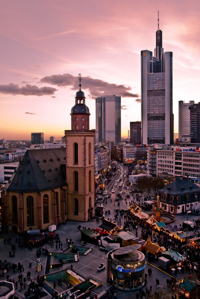 Hauptwache in Frankfurt am Main, Germany                                                                                                                                                                                 More