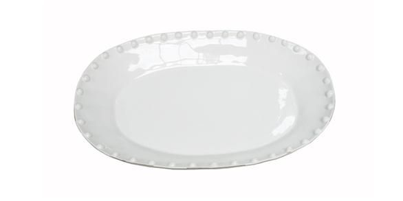 Large Oval Platter Blanc Dessus 5.5cmHx50.5cmWx35cmD French Country
