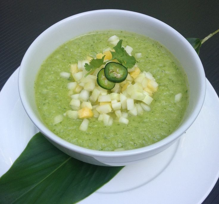 Tom and Giselle's Favorite Pineapple-Cucumber Gazpacho | Well + Good
