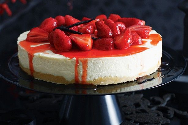 Take the classic Wimbledon combo of strawberries and cream, then reinvent it in this creamy cheesecake. Start this recipe the day before.