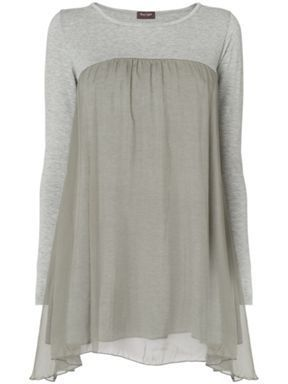 simple and understated-would be pretty easy to make refashion add silk or other light wight fabric to top