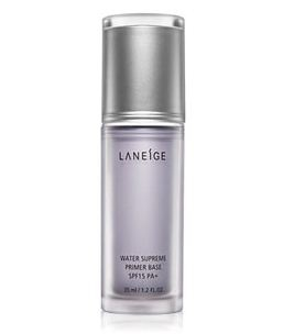 LANEIGE Water Supreme Primer Base SPF15 PA+_A primer base with the supple Aqua Texture to smoothen the surface of skin as moisturizing primer and prepares it for foundation with moisture coating
