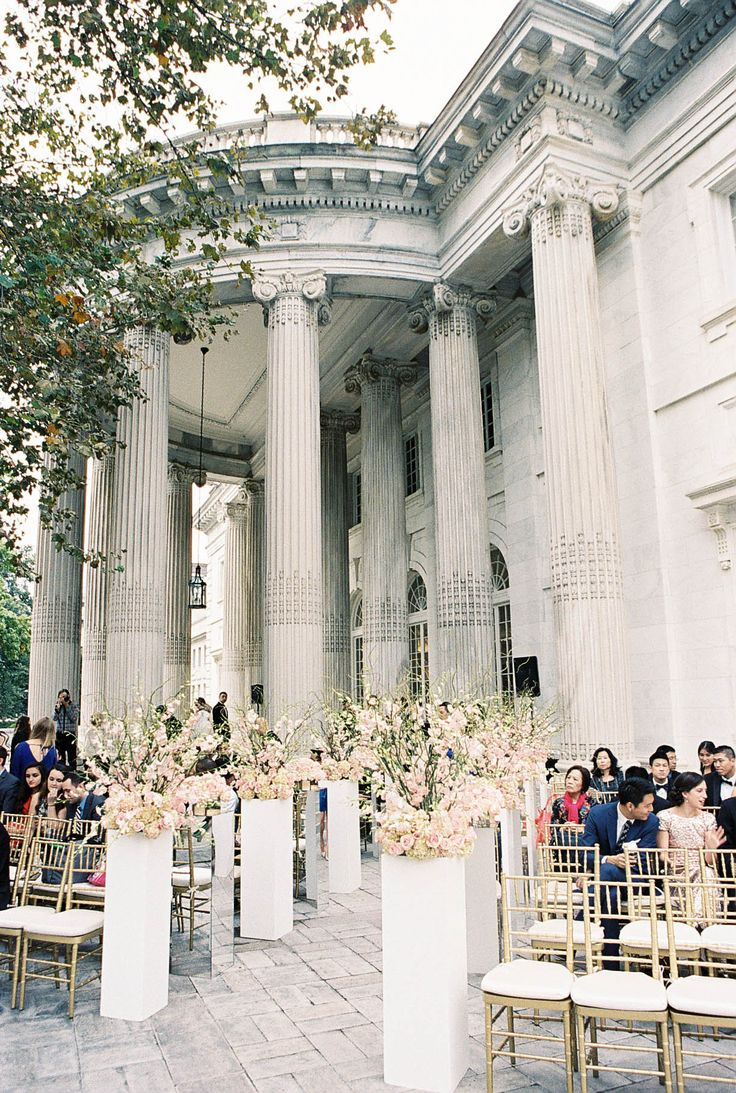 Photography : Adam Barnes Fine Art Photography | Wedding Venue : DAR-Constitution Hall | Floral Design : Da Vinci Florist Read More on SMP: http://www.stylemepretty.com/washington-dc-weddings/2015/05/16/gold-green-washington-dc-wedding/