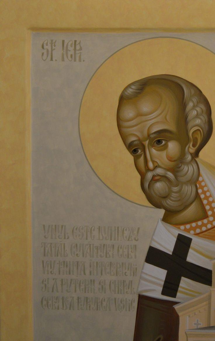 Saint Nicholas byzantine icon painted