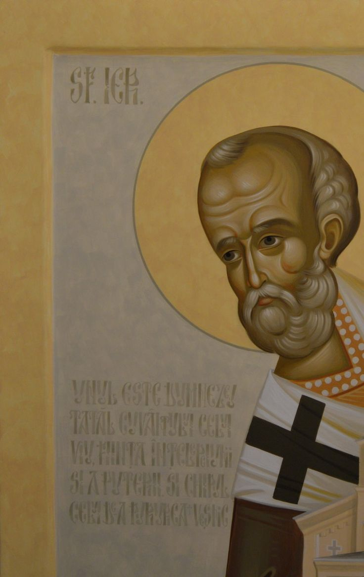 Saint Nicholas byzantine icon painted