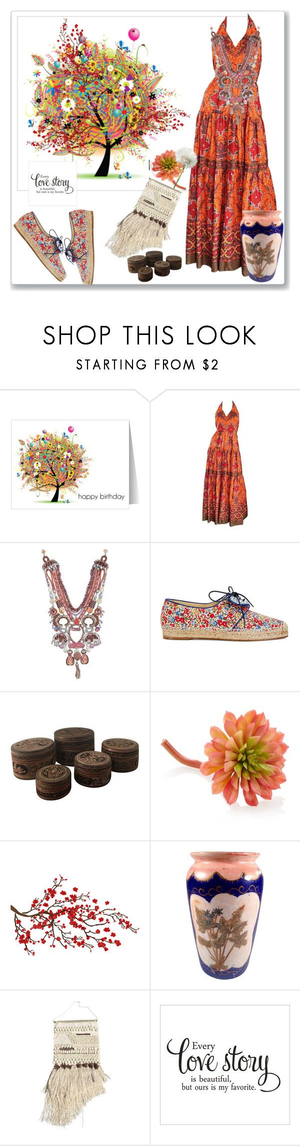 """""""Boho"""" by detroitgurlxx ❤ liked on Polyvore featuring Frank Usher, Sarah Flint, Gold Eagle and Brewster Home Fashions"""