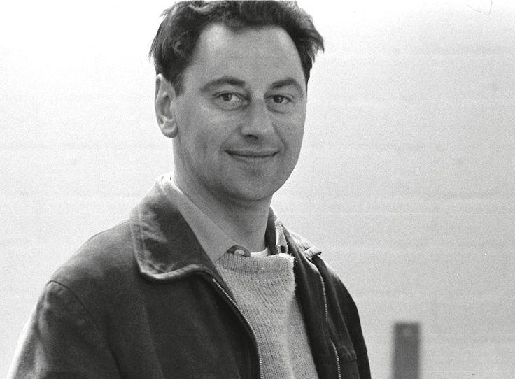 Hans Gugelot in der HfG Ulm, 1956. Foto: Hans G. Conrad.