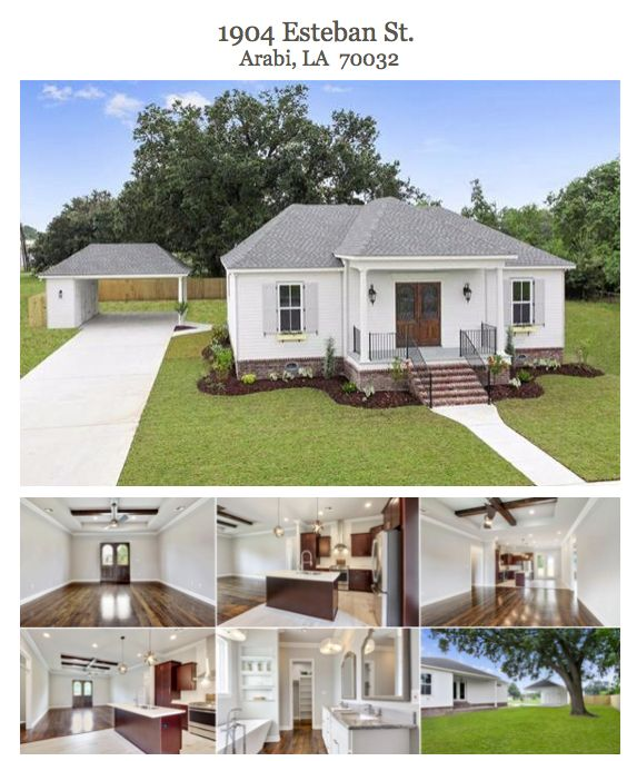 Another Sold On St. Bernard Dream Home For Sale.  OPEN HOUSE this Saturday! November 18th  11 am - 1 pm  1904 Esteban St.  Arabi, LA  70032  3 Bed | 2 Bath | 1,569 Living Sq Ft.  List Price $309,000  To find your SOSB Dream Home, visit our interactive property map https://soldonstbernard.com/property/  For more information on this beautiful SOSB home, visit  http://nom.mlsmatrix.com/matrix/shared/1v1qwPN5Fx/1904ESTEBANStreet