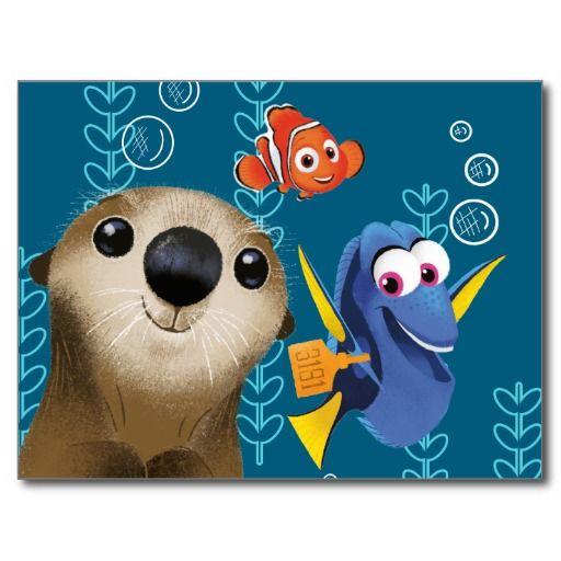 Finding Dory | Nemo, Dory & Otter #tarjeta #postal #postcard