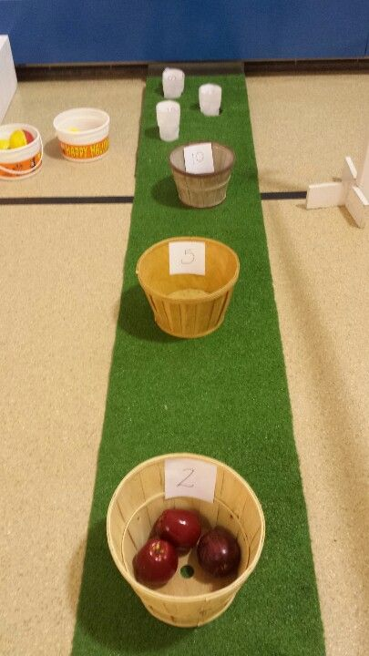 Apple toss game another super easy and cheap fall festival or halloween game
