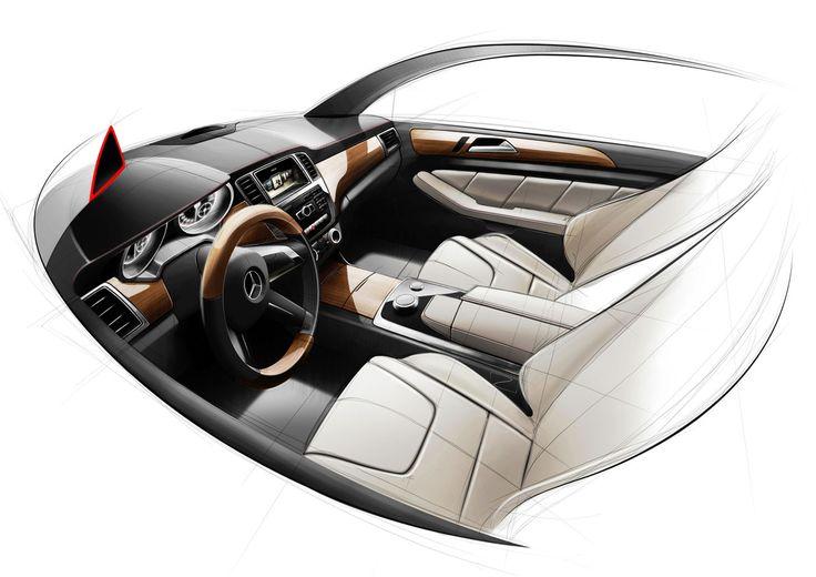 Mercedes-Benz M-Class Interior Design Sketch