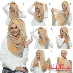 """This is the perfect """"hijab with folds"""" classic look, we've seen many bloggers wearing it, it looks beautiful and everyone can choose how many folds or volume they want, this look is very easy and quick to make, with no…"""
