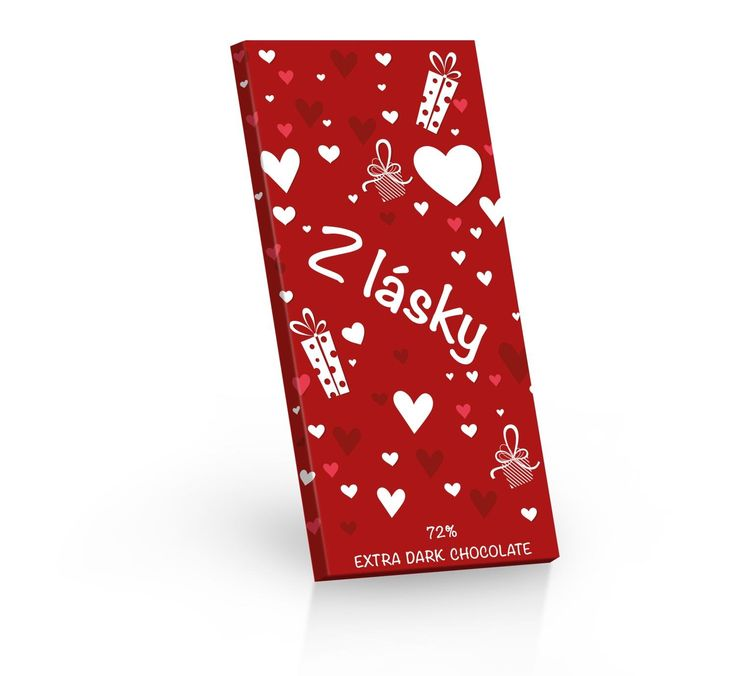 Extra hořká belgická čokoláda Z lásky - ideální dárek ke svátku Sv. Valentýna.