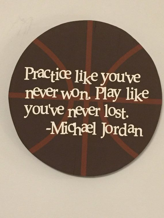 Rustic wall decor, Michael Jordan quote on a wooden sign with a wire hanger on the back. Great for wall decor in a boys bedroom or the sports mans man cave.  Approximate size 11.5 x 11.5 x 2 with hanger provided on the back.  This is the perfect room decor for any basketball fan. Whether its a childs room, family room or man cave, this sign will fit nicely in with an all sports theme or basketball. It also would obviously look great in a room with Michael Jordan themed decor. Words of…