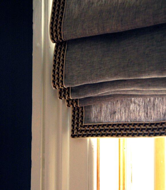DIY relaxed roman shade tutorial http://littlegreennotebook.blogspot.com/2013/02/diy-roman-shades-from-mini-blinds.html?m=1