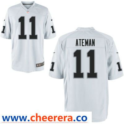 new style f55d1 5c260 Men's Oakland Raiders #11 Marcell Ateman White Road Stitched ...
