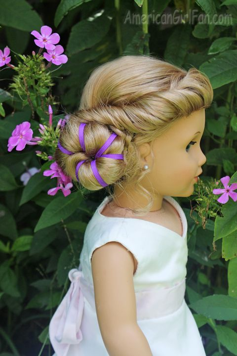Elsa Inspired Coronation Bun from American Girl Fan--Let it Goooooo!!!!!