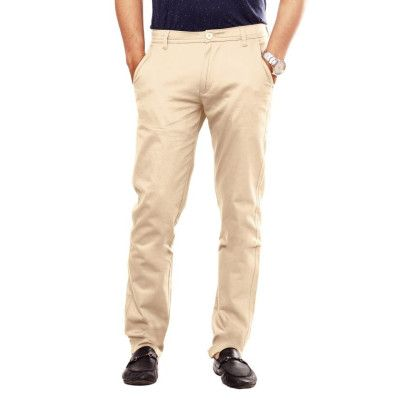 Uber Urban Presents Men's Stretch 100 Cotton Sleek Regular Fit Beige Trouser at just Rs.649. We Offer Free Shipping In India. For more details visit us at Uberurban.in