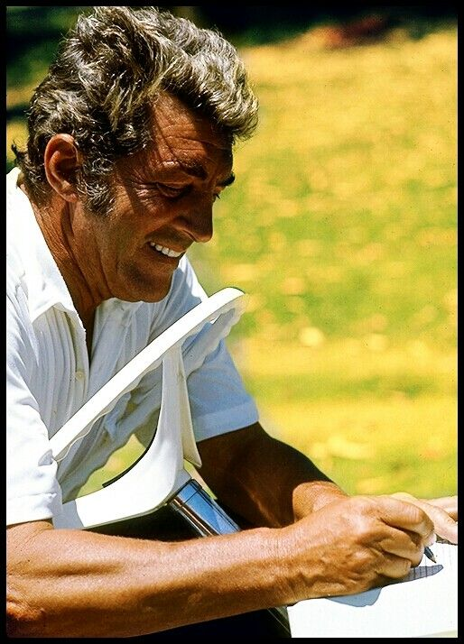 Dean Martin, great profile of the Italian singer missed by many of his fans - probably near and/or on a golf course - undated MR