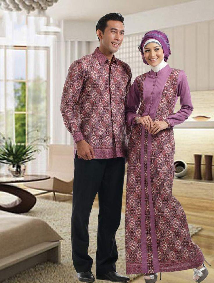 dress batik elegan kombinasi brokat - Google Search